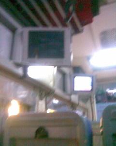 shatabdi coach LCD panels