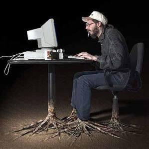 warning- Regular use of computer can make you grow like tree