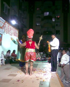"""Hanumanji"" in Krishna Janmotsav"