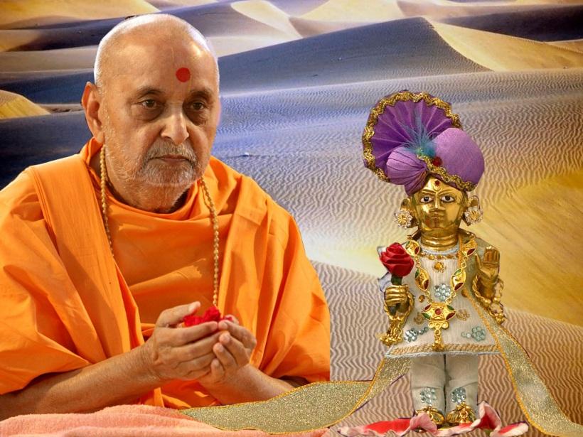 P.P.Pramukh swami maharaj with Shri hari